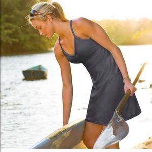 Athleta Shorebreak Dress Charcoal XXS